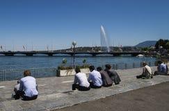 Время обеда, Женева Стоковые Фото