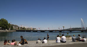 Время обеда, Женева Стоковая Фотография