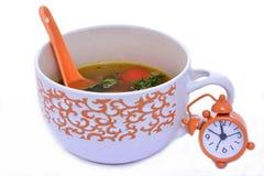 Время обеда с китайским супом Стоковое Фото