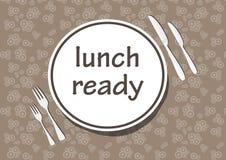 время обеда Стоковые Изображения