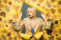Время осени для продажи моды Красочная осень и сухие лист Тенденция и мода осени осеннее листво осень счастливая стоковая фотография