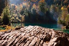 Время осени на blausee озера леса Стоковые Фотографии RF