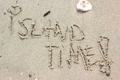 Время острова Стоковые Изображения