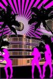 время партии розовое Стоковые Изображения