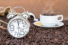 Время перерыва на чашку кофе Стоковые Фотографии RF