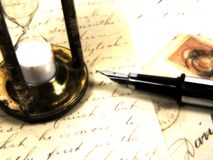 время письма стоковые изображения