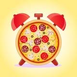 Время пиццы время заедк иллюстрация вектора