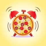 Время пиццы время заедк иллюстрация штока