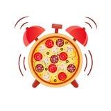 Время пиццы время заедк бесплатная иллюстрация
