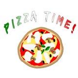 время пиццы иллюстрация штока