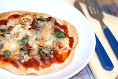 время пиццы стоковое изображение rf
