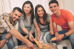 Время пиццы Стоковые Изображения