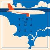 Время плакат путешествовать и летнего отпуска стоковые изображения rf
