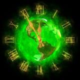 время планеты земли америки хорошее зеленое Иллюстрация штока