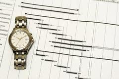 время план-графика принципиальной схемы Стоковое Изображение