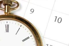 время план-графика Стоковая Фотография
