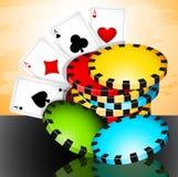 Время покера Стоковое Изображение