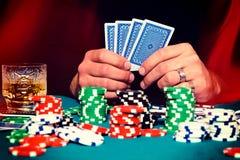 Время покера стоковая фотография rf