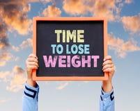 Время потерять вес, слово на доске Стоковая Фотография RF