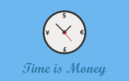 Время предпосылка концепции денег Стоковые Изображения RF
