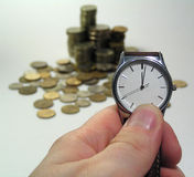 Время принципиальная схема дег Стоковая Фотография RF