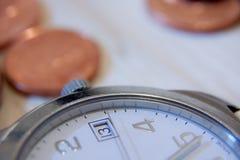 Время принципиальная схема дела денег Стоковые Изображения