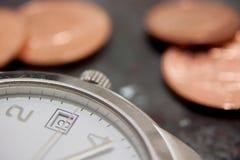 Время принципиальная схема дела денег Стоковая Фотография RF