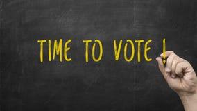 время проголосовать стоковые фотографии rf