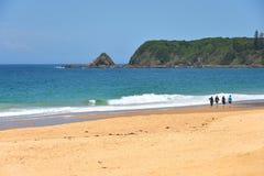 Время прогулки пляжа стоковая фотография