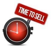 Время продать принципиальную схему иллюстрация штока