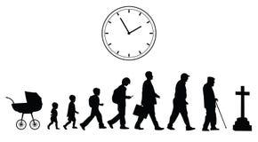 Время проходя, концепция вектора Стоковые Фото