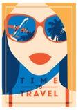 Время путешествовать и плакат летнего лагеря бесплатная иллюстрация