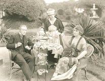 Время плотного ужина с чаем Стоковые Фотографии RF