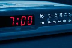 время радио будильника поднять бодрствование Стоковые Фото