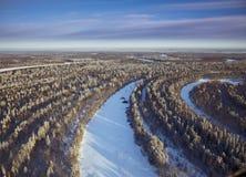 время реки пущи дня морозное Стоковые Изображения RF