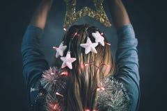 Время рождества, современное Snowwhite Стоковая Фотография