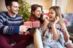 Время рождества с семьей Стоковое Изображение RF