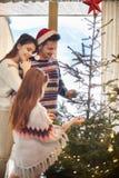 Время рождества с семьей Стоковое Фото