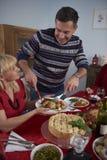 Время рождества для зрелых пар Стоковые Изображения