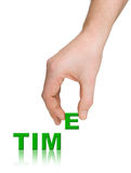 Время руки и слова Стоковое Фото