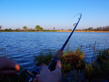 время рыболовства Стоковые Фотографии RF