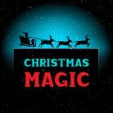 Время Санты ночи рождества волшебное Стоковая Фотография