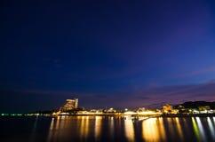 время солнца hua hin пляжа установленное Стоковое фото RF