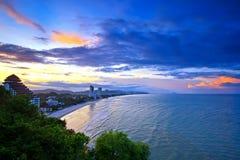 Время Солнця установленное на hua-Hin Стоковые Фото