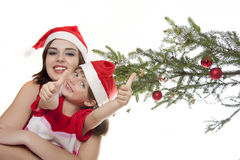 Время счастливого рождества Стоковые Изображения RF