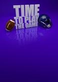 Время сыграть игру - текст американского футбола 3D Стоковое фото RF