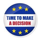 Время сделать кнопку штыря решения Стоковые Изображения