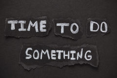 Время сделать что-то Стоковое Изображение