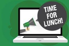 Время текста почерка для обеда Момент смысла концепции для того чтобы иметь перерыв на обед от работы Relax съесть человека остат бесплатная иллюстрация