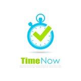 Время теперь логотип таймера абстрактный иллюстрация штока
